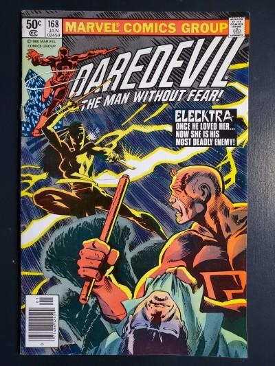 Daredevil #168 (1981) VF (8.0) 1st appearance of Elektra Frank Miller |