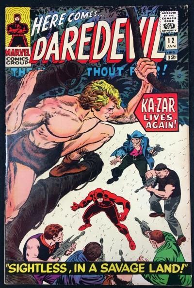 Daredevil (1964) #12 VF- (7.5) Ka-Zar app Kirby Romita art