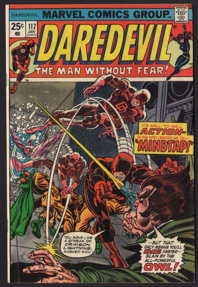 Daredevil (1964) #116 with Black Widow FN/VF (7.0) vs The Owl