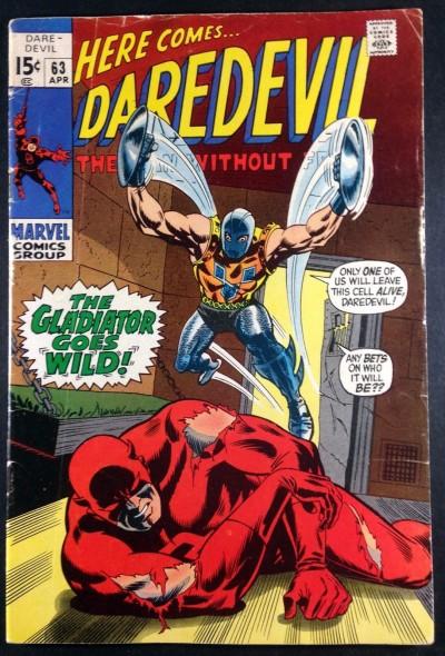 Daredevil (1964) #63 VG+ (4.5) classic Gladiator battle cover