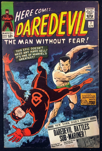 Daredevil (1964) #7 FN- (5.5) 1st app of Daredevil in red costume