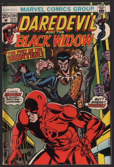 Daredevil (1964) #104 with Black Widow FN+ (6.5) vs Kraven the Hunter