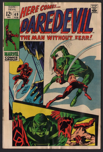 Daredevil (1964) # 49 VG (4.0) vs Killer Robot Gene Colan cover and story art