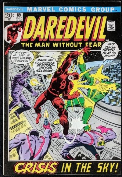 Daredevil (1964) #89 FN+ (6.5) starring with Black Widow vs Electro & Purple Man