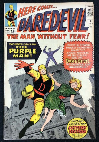 Daredevil (1964) #4 VF- (7.5) 1st app Killgrave The Purple Man