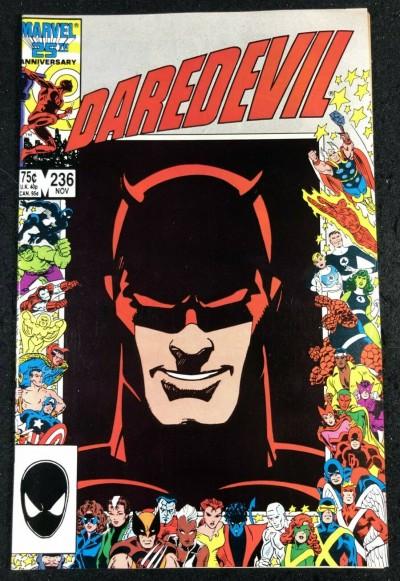 Daredevil (1964) #236 VF+ (8.5) Barry Smith Art 25th Anniversary Picture Frame