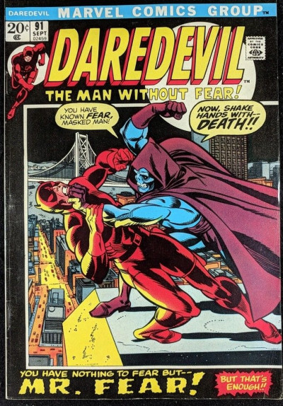 Daredevil (1964) #91 FN- (5.5) vs Mr. Fear starring with Black Widow
