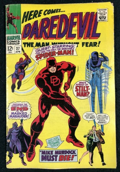 Daredevil (1964) #27 VG- (3.5) Spider-Man cover and appearance