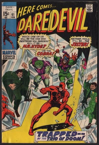 Daredevil (1964) #61 FN/VF (7.0) vs Jester Mr. Hyde & Cobra Gene Colan art