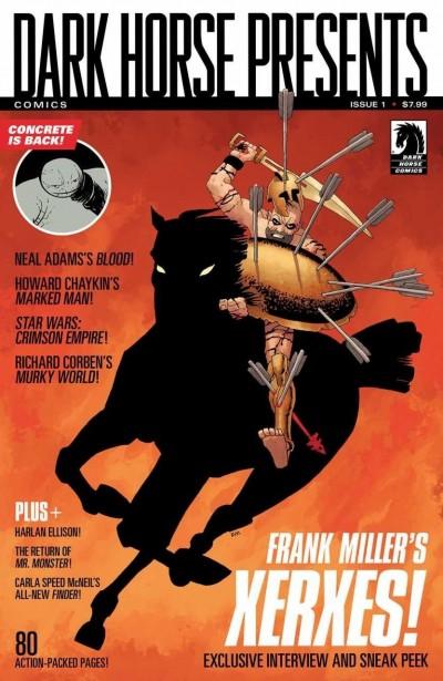 DARK HORSE PRESENTS #1 VF+ FRANK MILLER XERXES COVER DHP