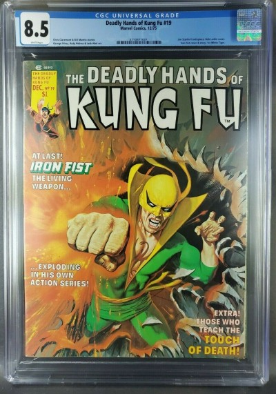 Deadly Hands of Kung-Fu #19 1975 CGC 8.5 VF+ White 1st White Tiger (3710871001)|