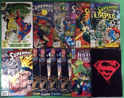 Death of Superman Funeral Reign & Return complete set 58 comics Doomsday 18 75
