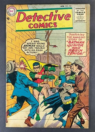 Detective Comics (1937) #218 VG- (3.5) Batman and Robin Dick Sprang Art
