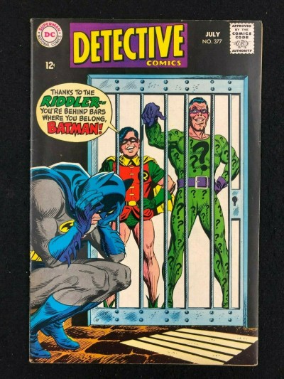 Detective Comics (1937) #377 FN/VF (7.0) Batman The Riddler