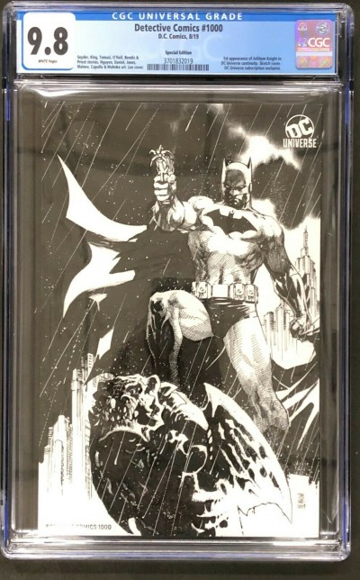 Detective Comics (1937) #1000 CGC 9.8 Rare Jim Lee Sketch Variant (3701832019)