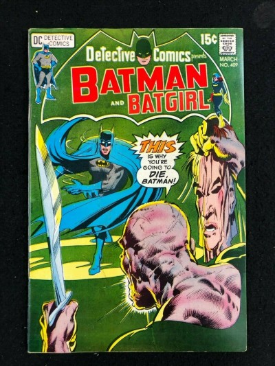 Detective Comics (1937) #409 VG/FN (5.0) Batman Batgirl Neal Adams