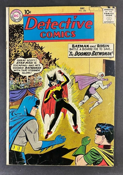 Detective Comics (1937) #286 VG/FN (5.0) The Doomed Batwoman Moldoff Art