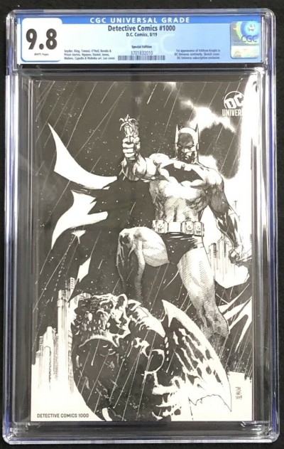 Detective Comics #1000 Special Edition CGC 9.8 Jim Lee Sketch Variant 3701832010