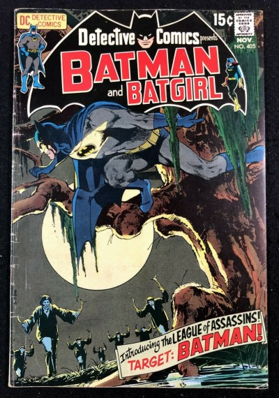 Detective Comics (1937) #405 VG/FN Batman & Batgirl 1st app League of Assassins