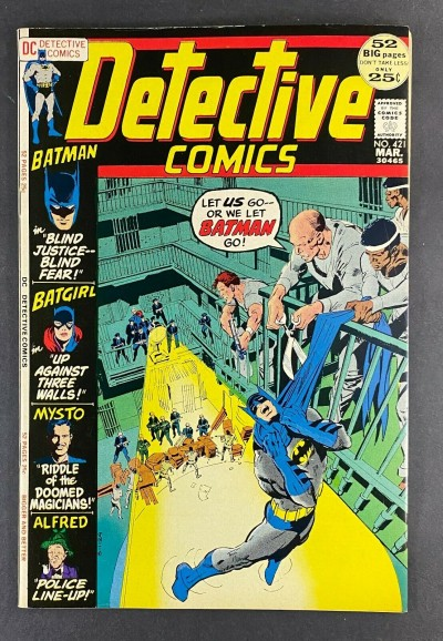 Detective Comics (1937) #421 NM (9.4) Neal Adams Cover Frank Robbins Art