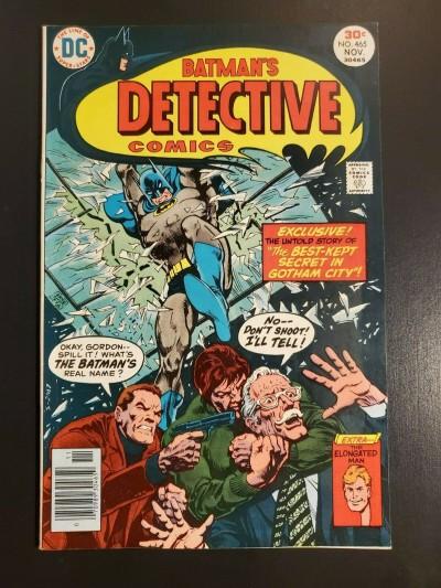Detective Comics #465 (1976) F+ 6.5 Ernie Chan art Elongated Man|