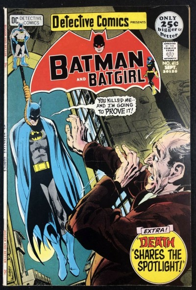 Detective Cover (1937) #415 FN+ (6.5) Classic Neal Adams Batman Hanged Cover