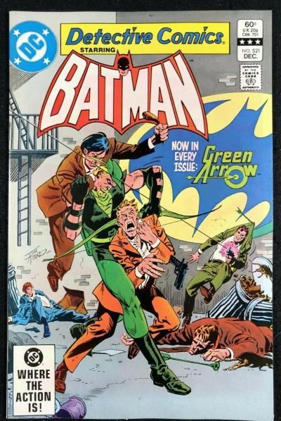 Detective Comics (1937) #521 NM- (9.2) Green Arrow Back-Up Begins Batman