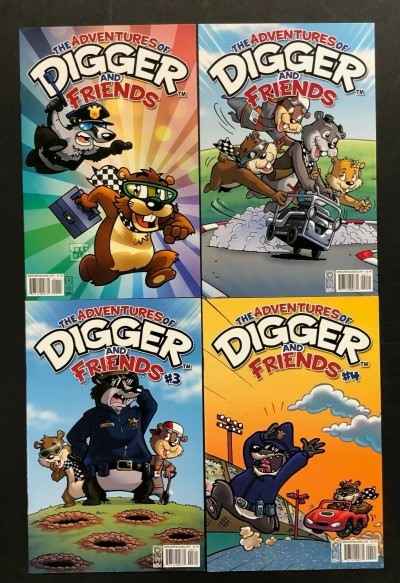 Digger & Friends (2009) #'s 1 2 3 4 Complete VF+ Set IDW