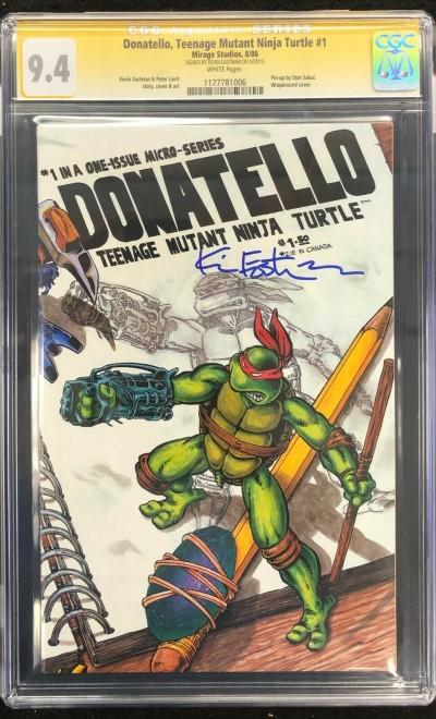 Donatello Teenage Mutant Ninja Turtles (1986) #1 CGC 9.4 Signed (1177781006)