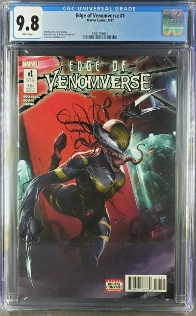 Edge Of Venomverse #1 2017 CGC 9.8 NM/M WHITE 1st Venomized Wolverine |