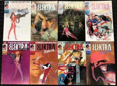 Elektra Assassin (1986) #1-8 complete set VF/NM Frank Miller Bill Sienkiewicz