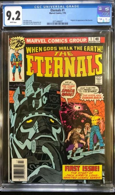 Eternals (1976) #1 CGC 9.2 White Pages 1st app & Origin Eternals (2071448007)