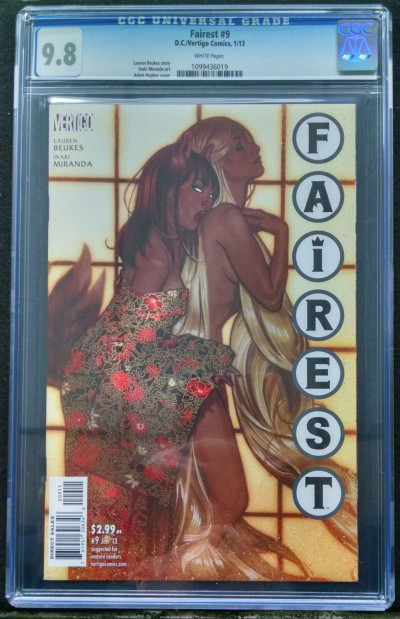 FAIREST #9 CGC GRADED 9.8 WHITE PAGES SEXY ADAM HUGHES GIRLS COVER