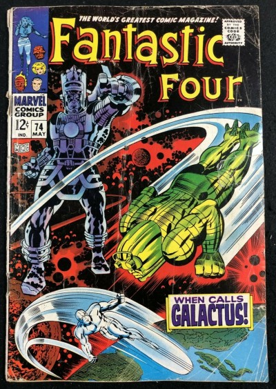Fantastic Four (1961) #74 GD+ (2.5) Silver Surfer Galactus Cover and Story