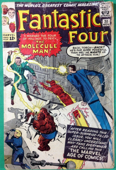 Fantastic Four (1961) #20 FR (1.0) 1st app Molecule Man