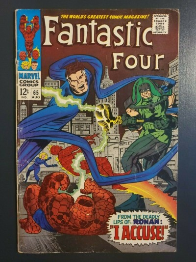 Fantastic Four #65 (1967) VG/FN (5.0) 1st appearance of Ronan the Accuser |