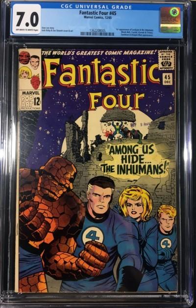 Fantastic Four (1961) #45 CGC 7.0 1st app Inhumans (1362208005)