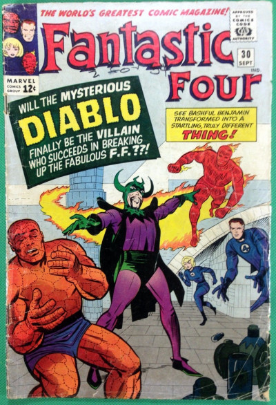 Fantastic Four (1961) #30 GD (2.0) 1st app Diablo