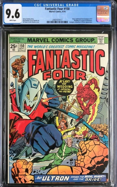 Fantastic Four (1961) #150 CGC 9.6 wedding of Qicksilver & Crystal (2069187017)
