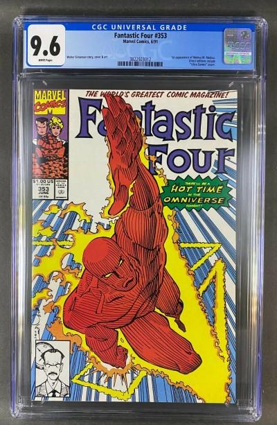 Fantastic Four (1961) #353 CGC Graded 9.6 Mr. Mobius 1st App (3822923012)