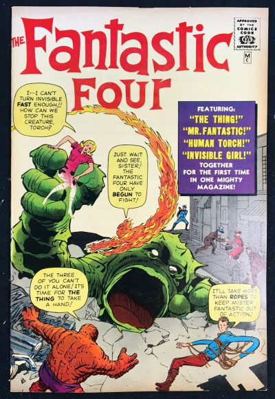 Fantastic Four (1966) #1 VF- (7.5) Golden Record Reprint