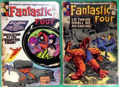 Fantastic Four (1961) 38 43 51 56 reader lot of 4 comics Frightful Four Klaw