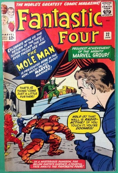 Fantastic Four (1961) #22 FR (1.0) versus Mole Man