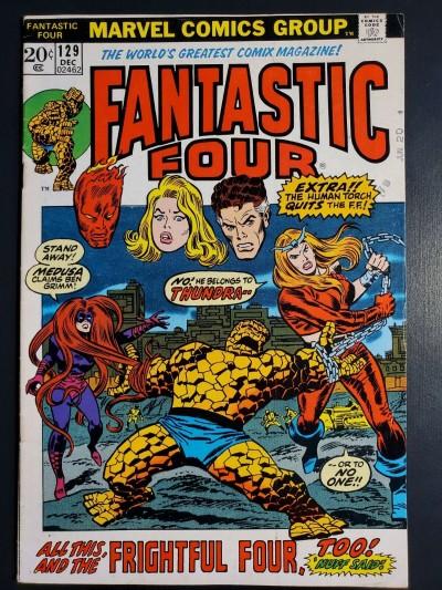 Fantastic Four 129 (1972) FN (6.0) 1st App. Thundra Picture Frame Cover |