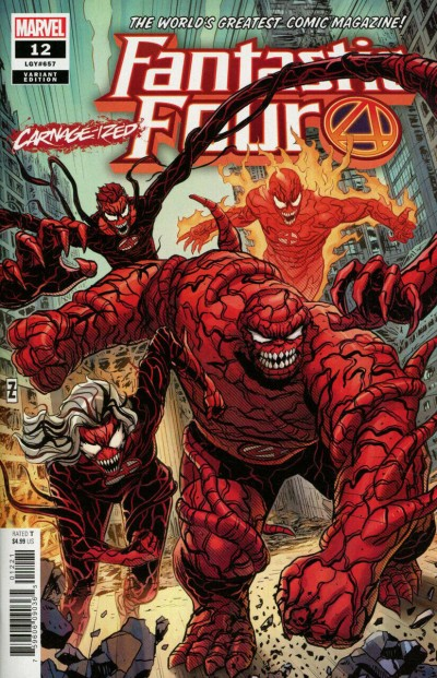 Fantastic Four (2018) #12 (#657) VF/NM Carnage-ized Variant Cover