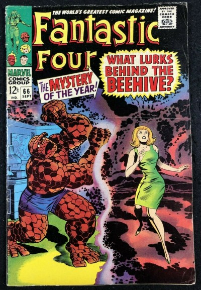 Fantastic Four (1961) #66 VG (4.0) part one Warlock (Him) origin