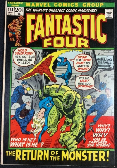Fantastic Four (1961) #124 VF+ (8.5) Picture Frame Cover