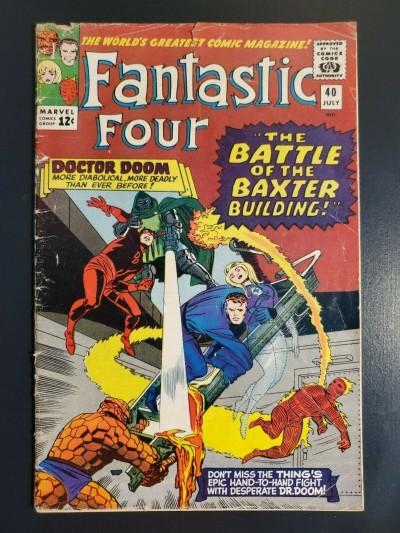 FANTASTIC FOUR #40 (1965) VG- 3.5 Daredevil Doctor Doom Jack Kirby |
