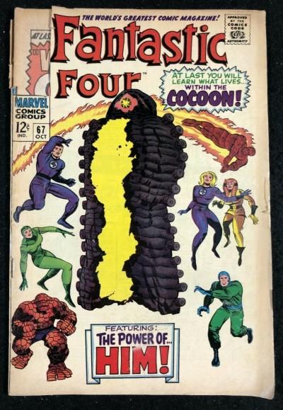 Fantastic Four (1961) #67 GD (2.0) origin Him part 2 of 2 Warlock