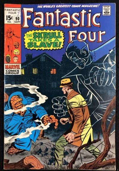 Fantastic Four (1961) #90 FN/VF (7.0) Skrull Slave Master & Mole Man appearance